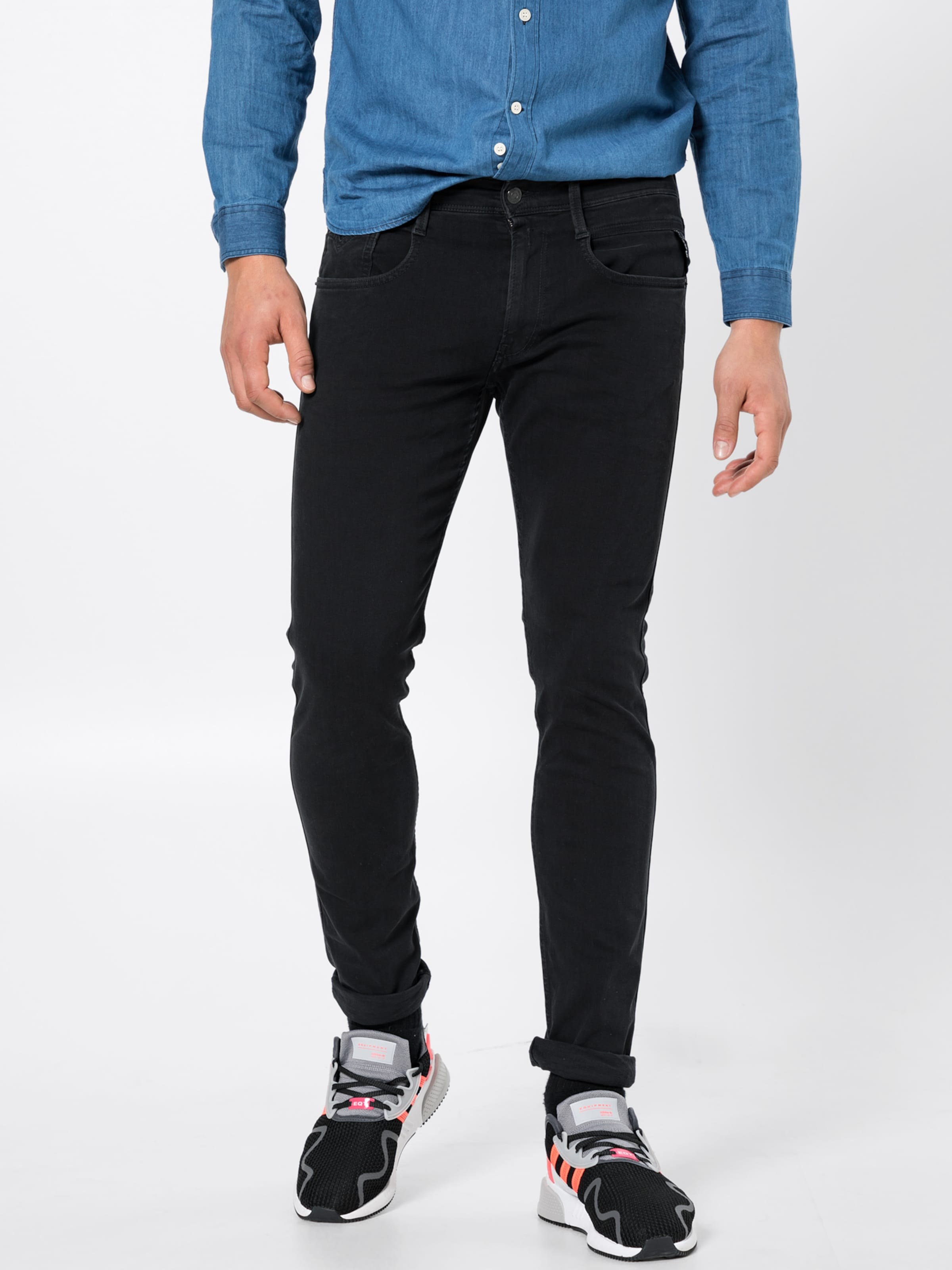 In 'anbass' Jeans Replay Schwarz Jeans 'anbass' Replay In xBoWQrCedE