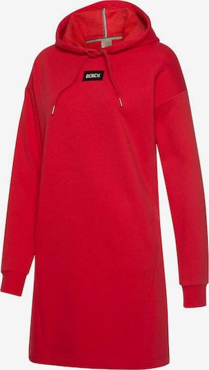 BENCH Sweatkleid »Bench Hooded Sweatdress« in rot, Produktansicht