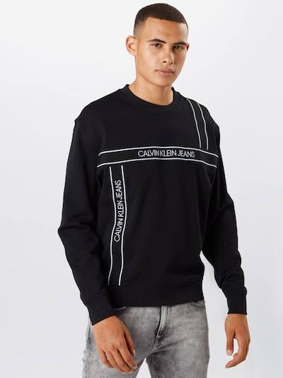 Calvin Klein Jeans Dressipluus must / valge: Eestvaade