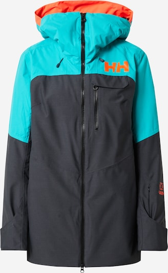 HELLY HANSEN Outdoorjas 'Whitewall' in de kleur Kobaltblauw / Cyaan blauw / Sinaasappel, Productweergave