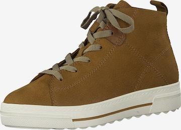 Tamaris GreenStep High-Top Sneakers in Brown