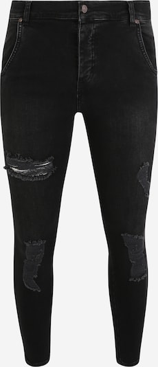 SikSilk Jeans in black denim, Produktansicht
