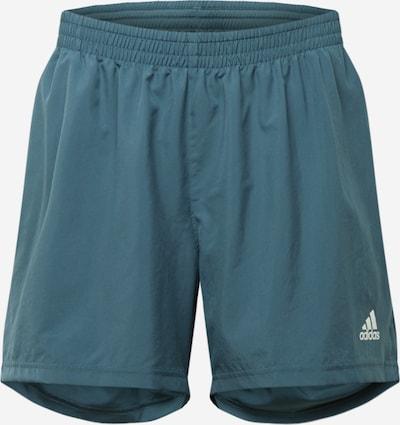 "ADIDAS PERFORMANCE Pantalon de sport 'Run It Pb 5""' en bleu foncé / blanc, Vue avec produit"