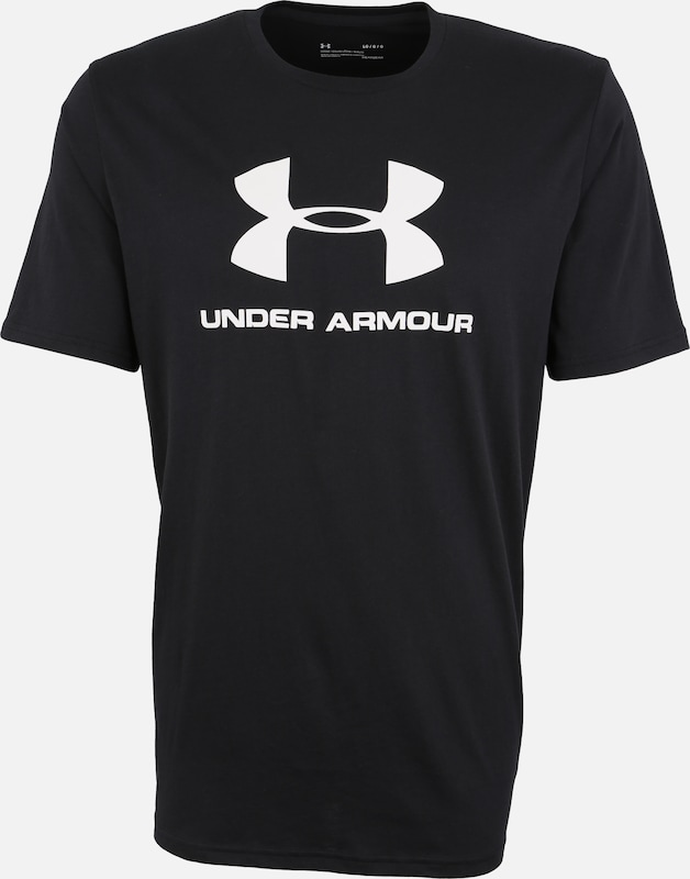 UNDER ARMOUR Sport-Shirt in schwarz / weiß: Frontalansicht