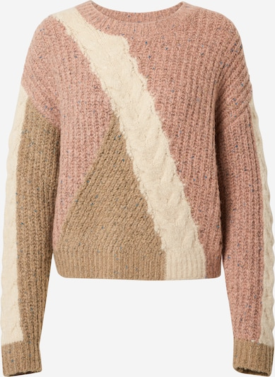 Pepe Jeans Pullover 'Sophie' in khaki / rosa / weiß, Produktansicht