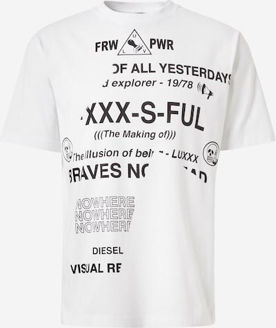 DIESEL Shirt 'JUST FOLDED' in schwarz / weiß, Produktansicht