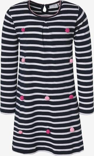 happy girls Kleid in blau / nachtblau / pink / weiß, Produktansicht