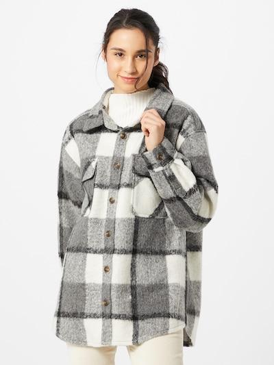 Blend She Jacke 'Ombre' in grau / weiß, Modelansicht