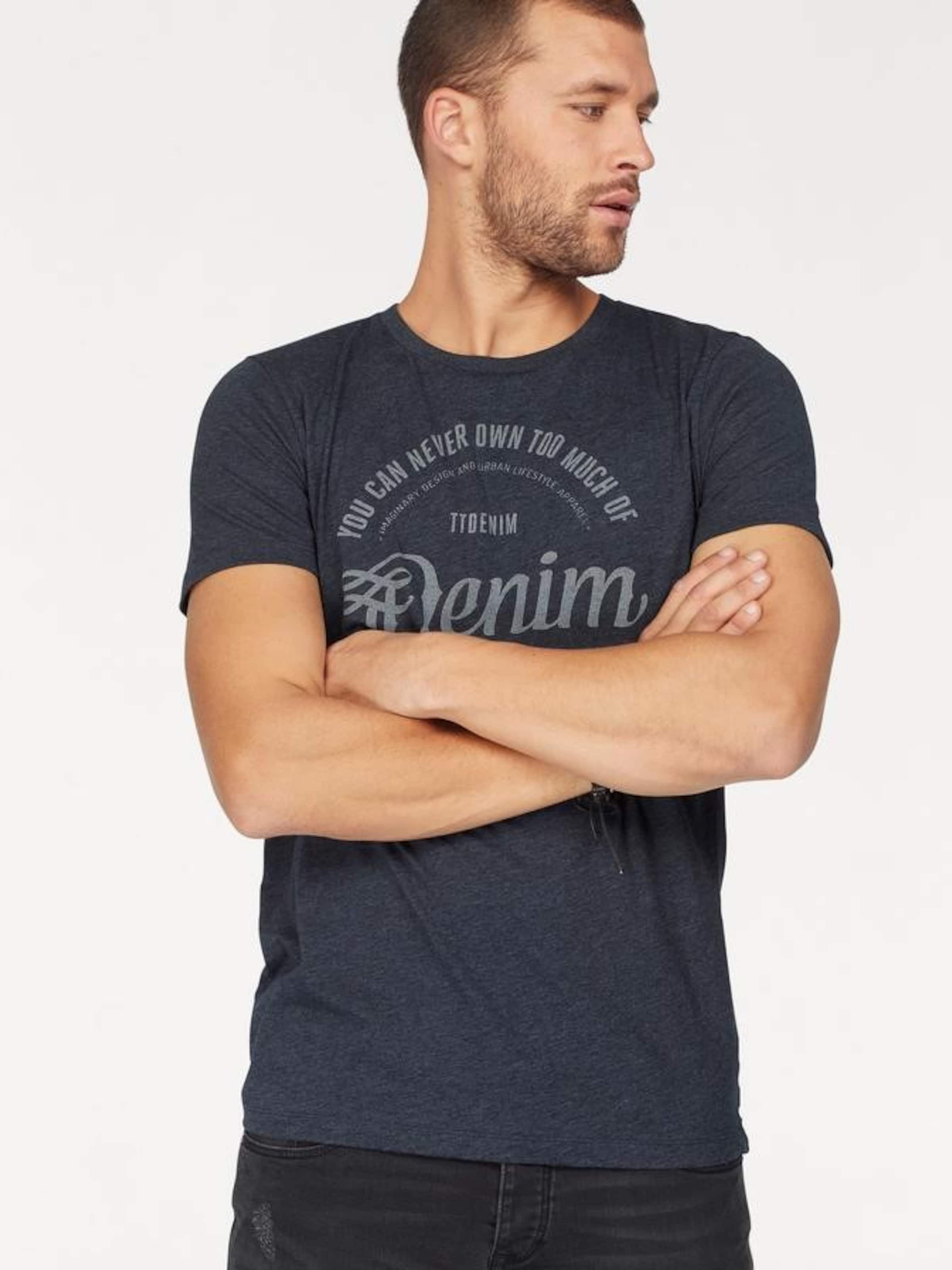 TOM TAILOR DENIM Denim Rundhalsshirt Freies Verschiffen Amazon BdtbPnhZV