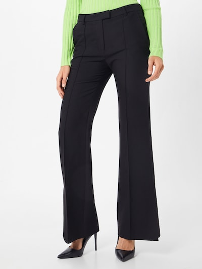 SECOND FEMALE Bügelfaltenhose 'Honny' in schwarz, Modelansicht