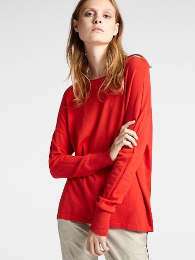 Sandwich Pullover in rot, Modelansicht