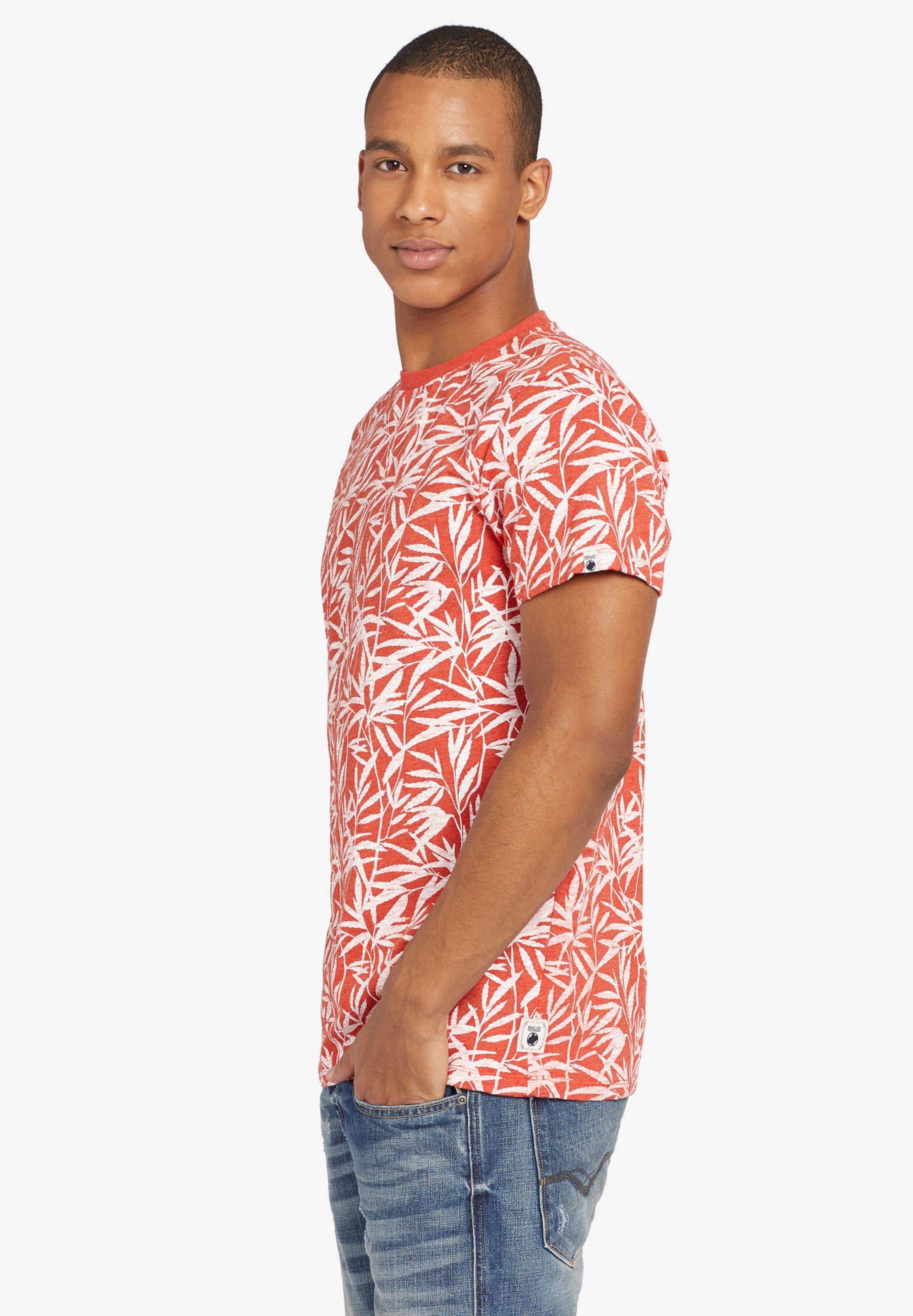 shirt Khujo En 'alberto T Leaf' CrèmeOrange PkXwO8n0
