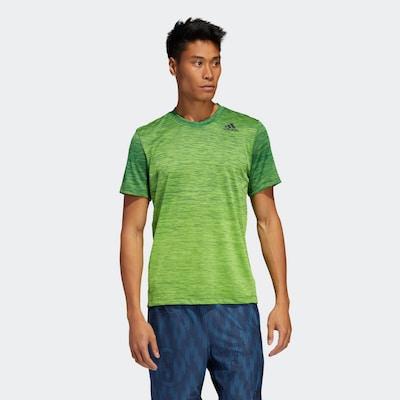 ADIDAS PERFORMANCE Functioneel shirt in de kleur Grasgroen / Groen gemêleerd: Vooraanzicht