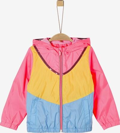 s.Oliver Übergangsjacke in hellblau / gelb / pink, Produktansicht