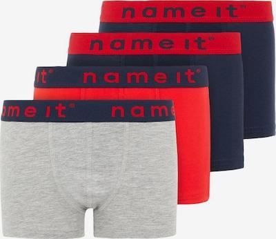 NAME IT Onderbroek in de kleur Nachtblauw / Grijs gemêleerd / Neonrood, Productweergave