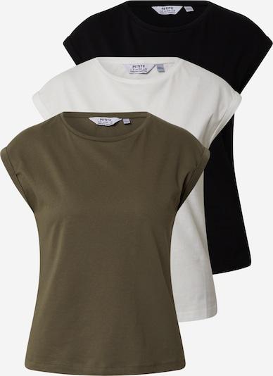 Dorothy Perkins (Petite) T-Shirts 3er Pack 'ROLL SLEEVE TEE ' in schwarz, Produktansicht