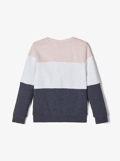NAME IT Sweatshirt in nachtblau / puder / weiß: Frontalansicht