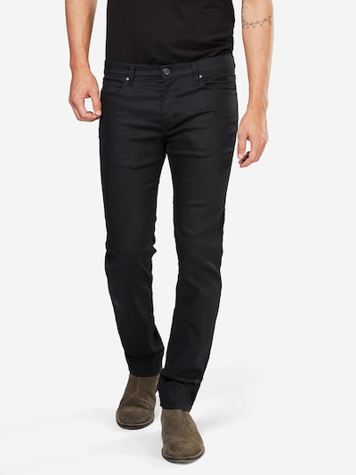 HUGO Slim-Fit-Jeans '708' in black denim: Frontalansicht