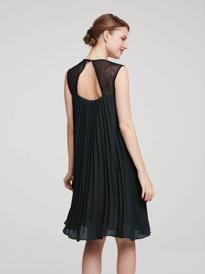 Kokteilinė suknelė iš heine , spalva - juoda: Vaizdas iš galinės pusės