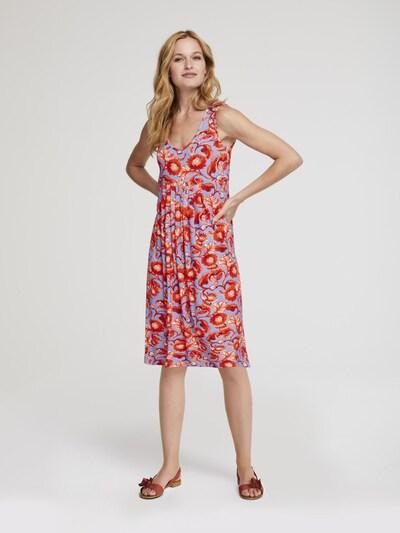 heine Kleid in blau / dunkelorange, Modelansicht