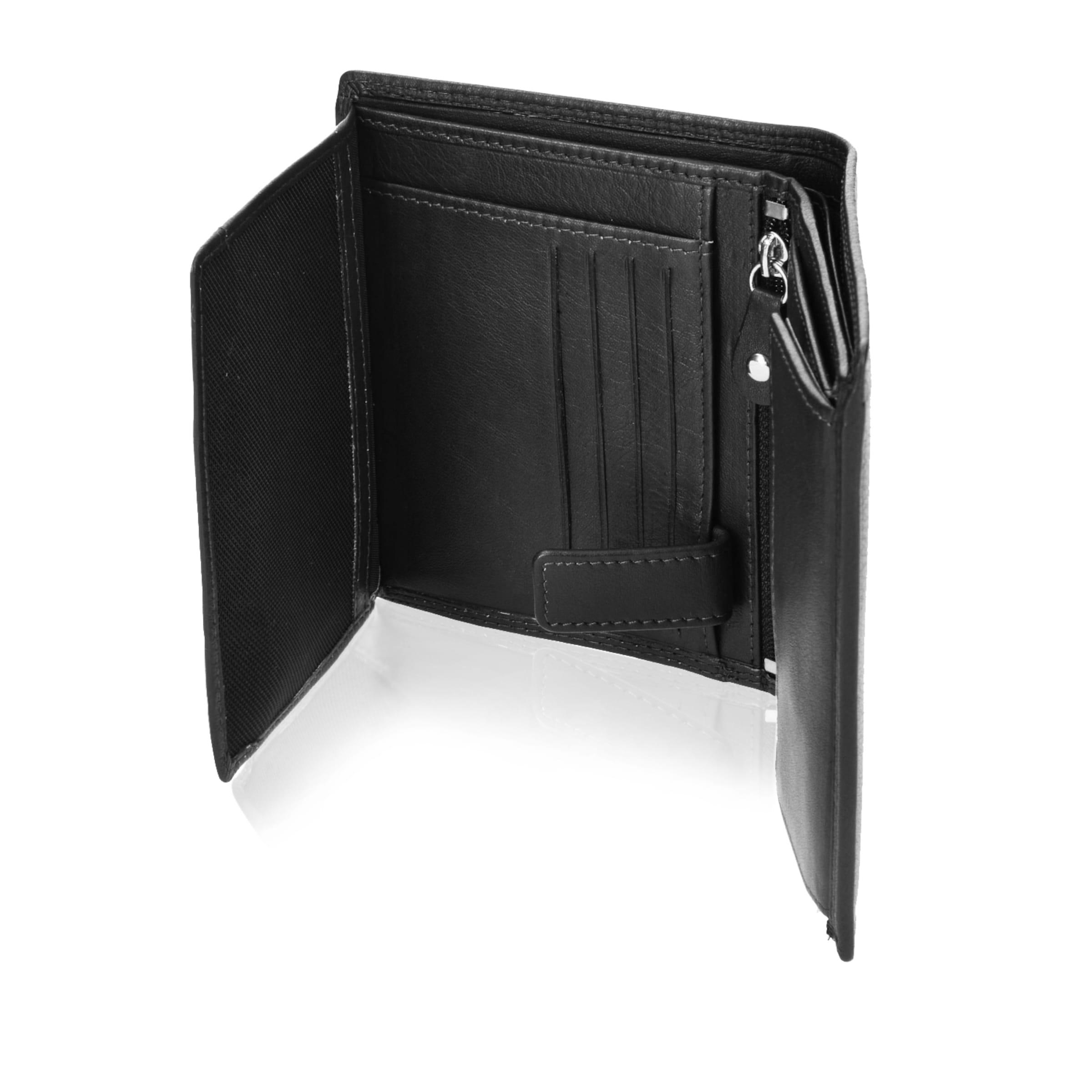 Cm Und Hochformat Mit Samsonite 5 Schwarz Geldbörse Reißverschlussfach In 10 78020 Klappfach Leder fvYby76g