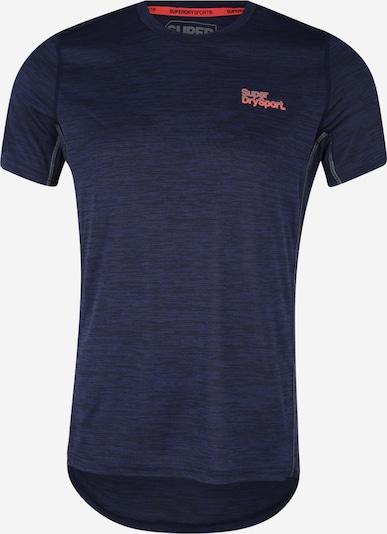Superdry T-Shirt in dunkelblau / neonorange, Produktansicht