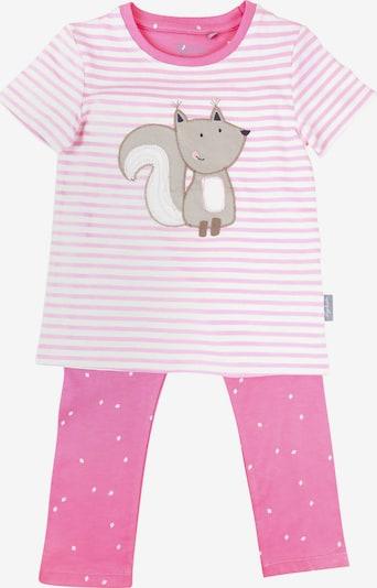 SIGIKID Schlafanzug in rosa / naturweiß, Produktansicht