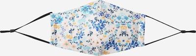 Hailys Masque en tissu 'Flower 1' en bleu clair / bleu foncé / jaune / blanc, Vue avec produit