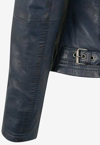 7ELEVEN Lederjacke 'LEA' in blau / navy, Produktansicht