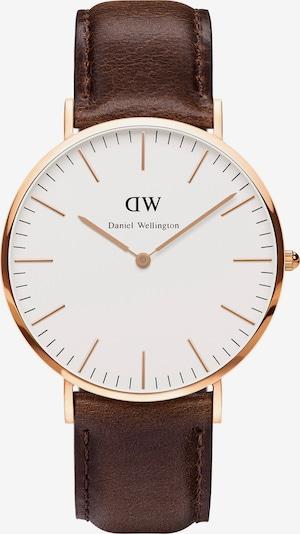 Daniel Wellington Armbanduhr 'Bristol' in braun / rosegold, Produktansicht