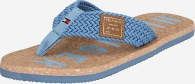 TOMMY HILFIGER Žabky 'CASUAL CORK BEACH SANDAL' - béžová / modrá, Produkt