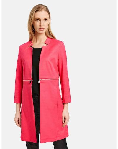 TAIFUN Blazer Cardigan Langarm gefüttert Longblazer in pink, Modelansicht