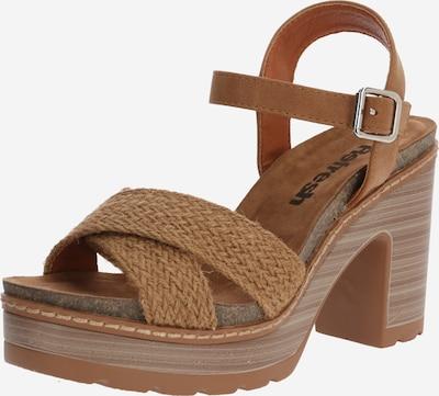 Sandale cu baretă Refresh pe maro cămilă, Vizualizare produs