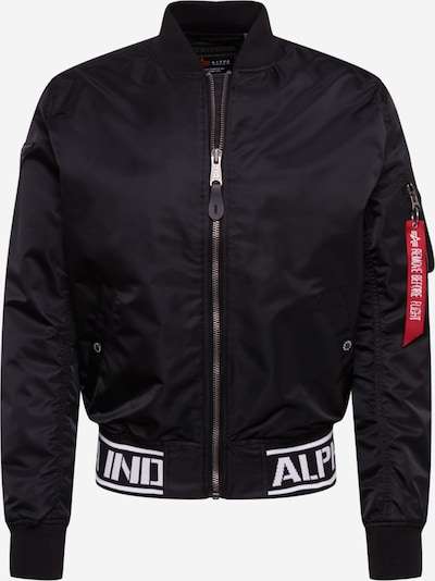 ALPHA INDUSTRIES Prechodná bunda - čierna / biela, Produkt