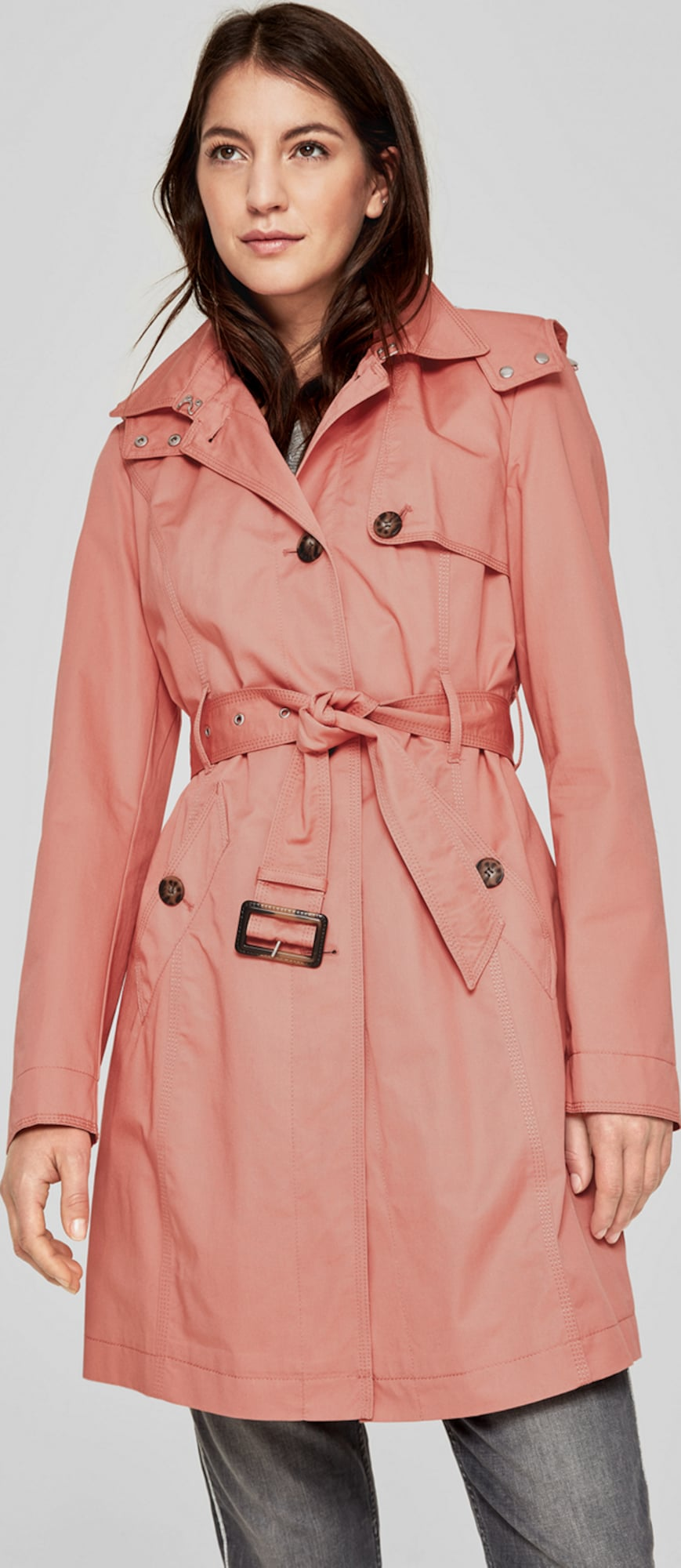 s oliver red label trenchcoat mit collar in pink about you. Black Bedroom Furniture Sets. Home Design Ideas