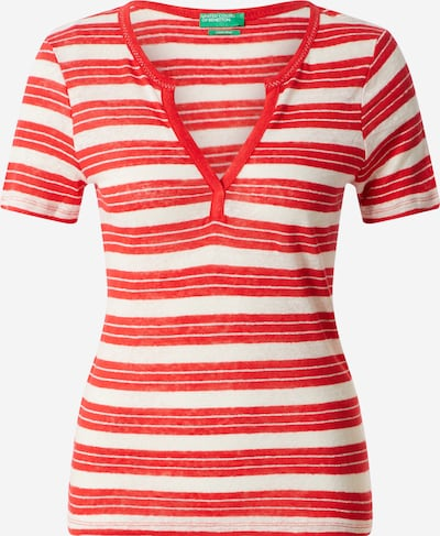 UNITED COLORS OF BENETTON Shirt in rot / weiß, Produktansicht
