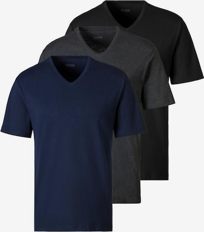 BOSS T-Shirt in dunkelblau / dunkelgrau / schwarz, Produktansicht