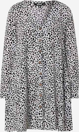 Missguided Kleid 'BUTTON THROUGH LS SMOCK DRESS DALMATION' in schwarz / weiß, Produktansicht