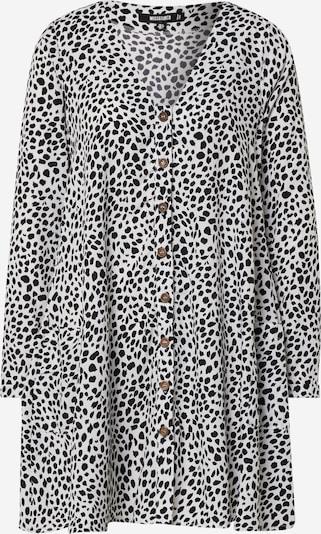 Missguided Robe 'BUTTON THROUGH LS SMOCK DRESS DALMATION' en noir / blanc, Vue avec produit
