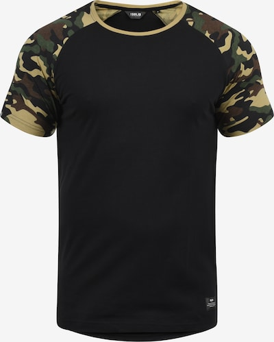 !Solid Rundhalsshirt 'Cahil' in schwarz: Frontalansicht