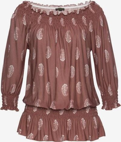 LASCANA Shirt in chamois / weiß, Produktansicht