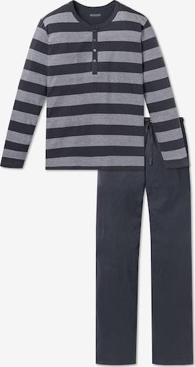 SCHIESSER Duga pidžama u siva / svijetlosiva, Pregled proizvoda