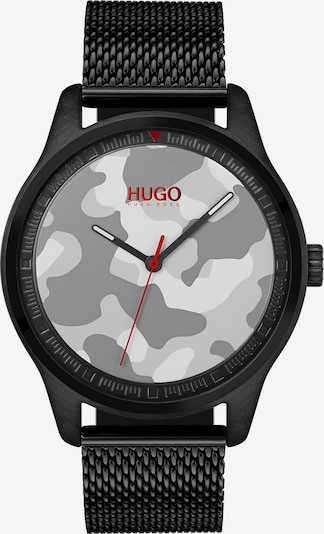 HUGO Analog Watch 'Move Casual' in Grey / Light grey / Red / Black / White, Item view