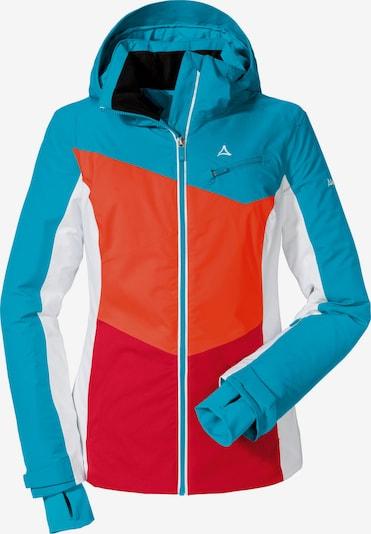 Schöffel Skijacke 'Schladming' in neonblau / orangerot, Produktansicht