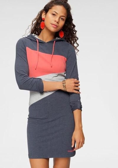 KangaROOS Shirtkleid in grau / pink, Modelansicht