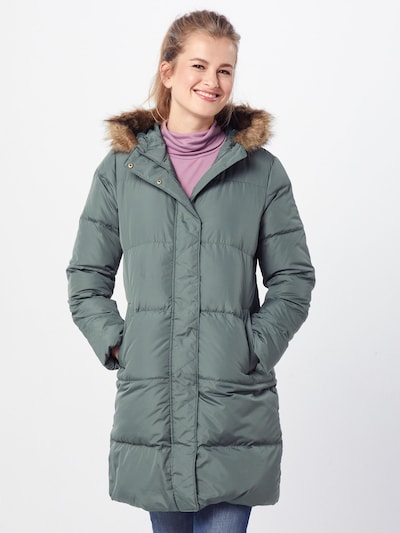 GAP Mantel 'V-LONG DOWN PUFFER' in oliv, Modelansicht