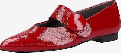 Paul Green Ballerines à lanières en rouge: Vue de face