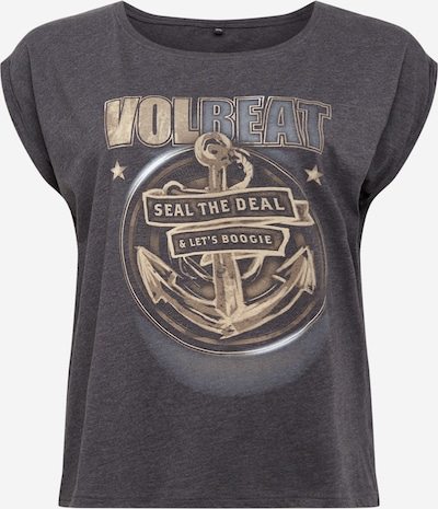 Merchcode T-Shirt 'Volbeat Seal The Deal' in beige / graumeliert, Produktansicht