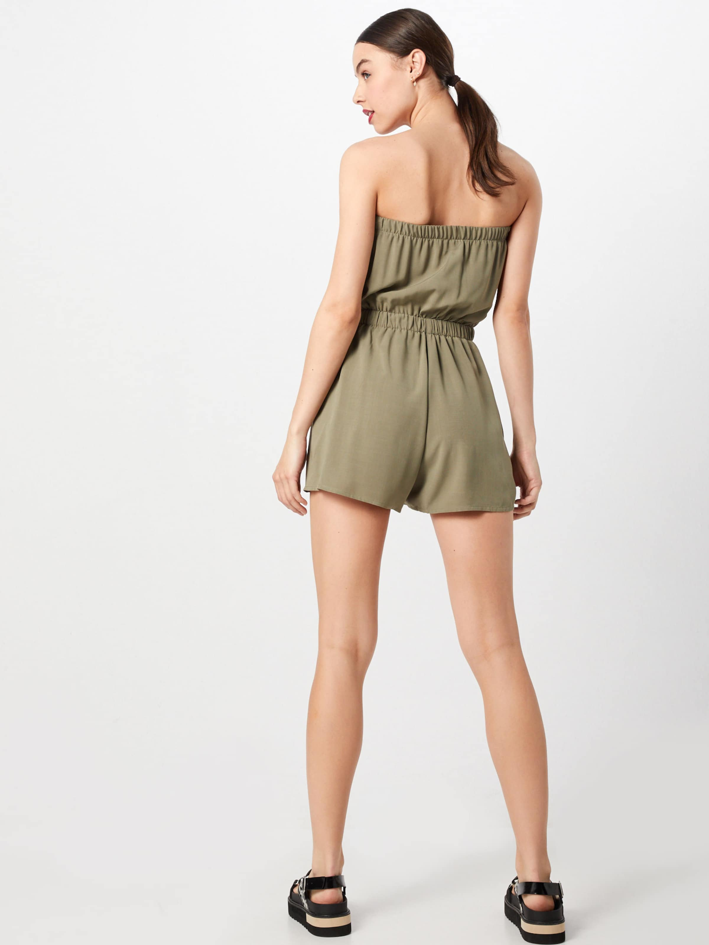 't New Bandeau In Psuit' Look Plain Khaki Frnt F Btn Overall qzpVUMS