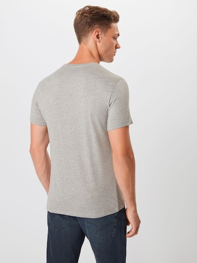 LEVI'S T-Shirt en gris / blanc: Vue de dos